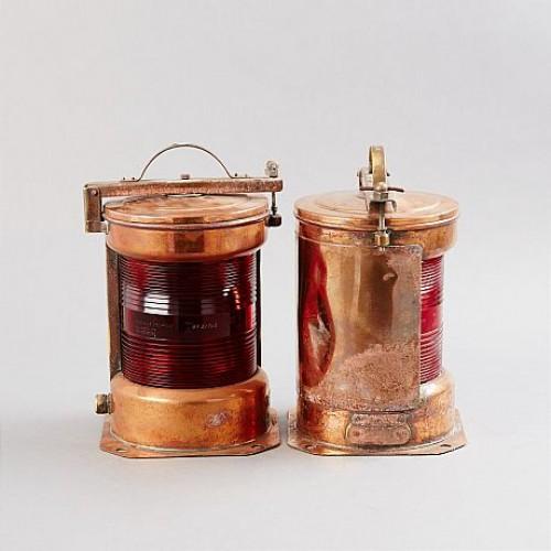 Marina Lampor i koppar - lanternor och dagersignaler