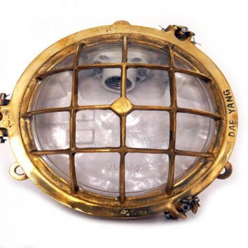 Salvaged Brass Bulkhead light - Nautical lights