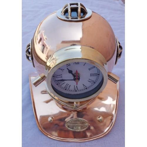 Brass & Copper Diving Helmet Clock