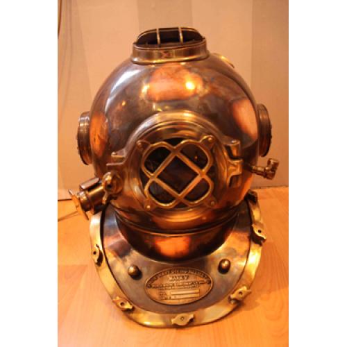 Brass & copper retro vintage Diving helmet - Marine Interior