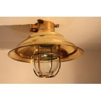 Antik mässingslampa - Skepparmössa