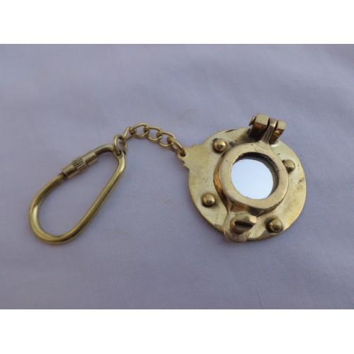 Brass Porthole Key Chain