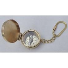 Brass Lid Compass Key Chain