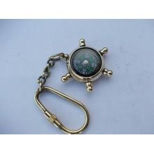 Brass Compass Key Chain