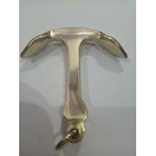 Brass Anchor Key Ring