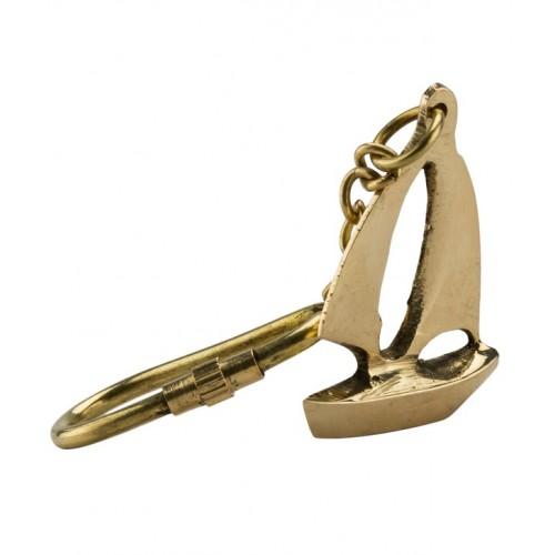 Brass Ship Key Chain