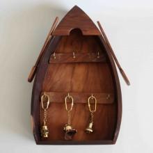 Nyckelringslåda i trä - båt stil