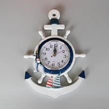 Marin inredning klocka i ankare stil - marin väggdekoration