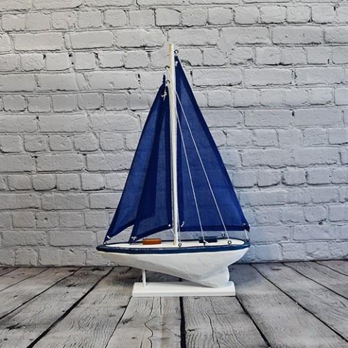 Mediterranean Retro Sailing Wooden Boats Model