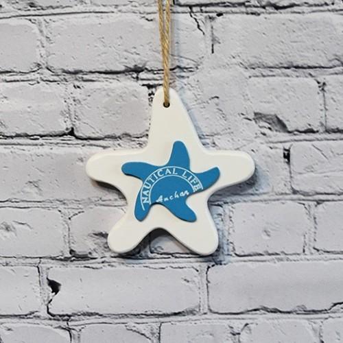 Stjärnig dekoration för vägg - nautiska inredning