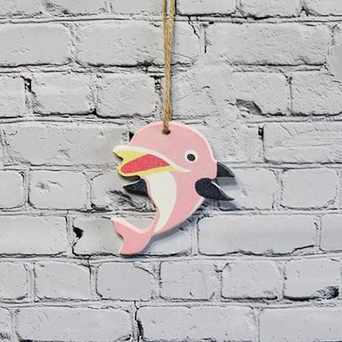 Dolphin fisk i rosa för väggdekoration - inredning dekoration