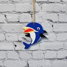 Dolphin fisk i blå för väggdekoration - heminredning billigt