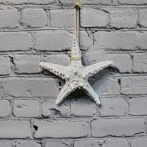Star Fish Hung Nautical Decor Hang - White