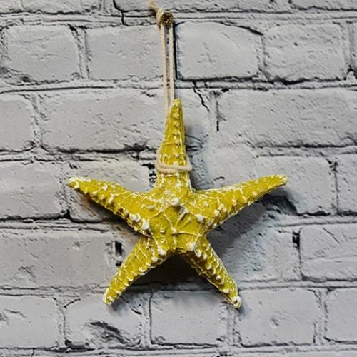 Star Fish Hung Nautical Decor Hang - Yellow