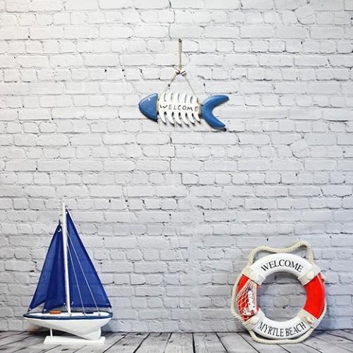 Inredning marin stil Fiskben i TRÄ Presentartiklar - Heminredning