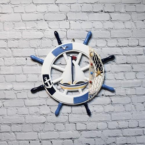 Marin skeppsratt trä, 1st, maritime - nautisk stil