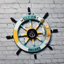 Nautiskt båt skeppsratt, 1st, Welcome aboard - båtbutik stockholm