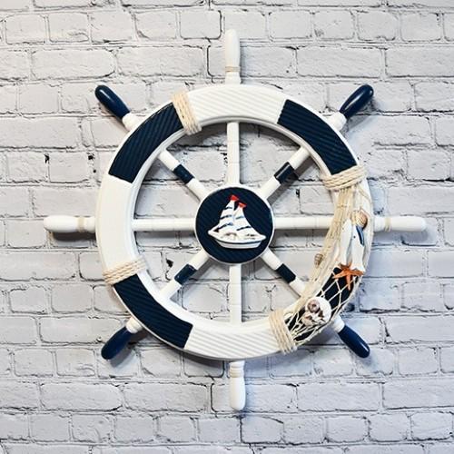 Ship Wheel with Highly Inspiring Decorative Design