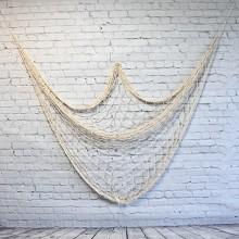 Marin väggdekoration med Krämfärg/off white Fishing net (1X2m)