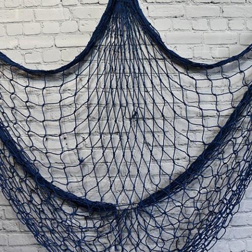 Fiskenät inredning för vägg, fisknät i blå (1.5x2m) - klassisk inredning