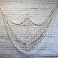 Nautical Fish Net Wall Decoration - Cream color (1.5x2m)