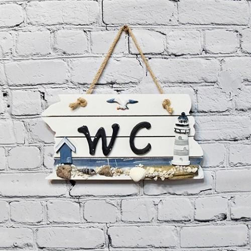 Wooden Doorplate House Decoration - WC