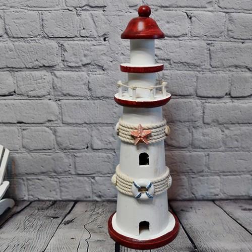 Creative Wood Lighthouse Model Decoration Craft