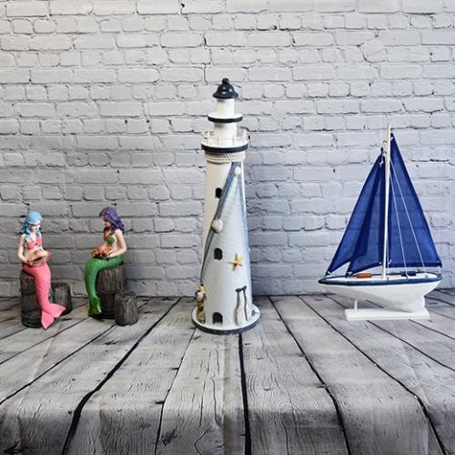 Stora fyr / Light house, 1st fyr i trä - inredning båt