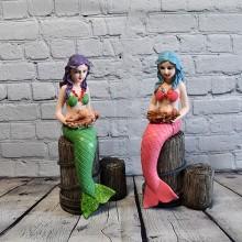 1 par Galjonsfigur i fisk stil - maritim inredning