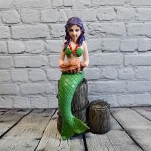 Fisk inredning, 1st fiskdekoration i grön - marint tema