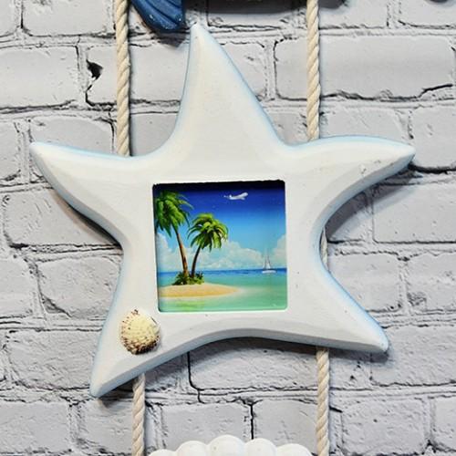 Vägg fotoram dekoration i marin - Inredning vardagsrum inspiration