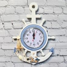 1 Ankare klocka för vägg marin dekoration - marin inredning sovrum