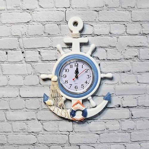 Maritimt inredning, 1st ankare klocka med livboj - cool inredning