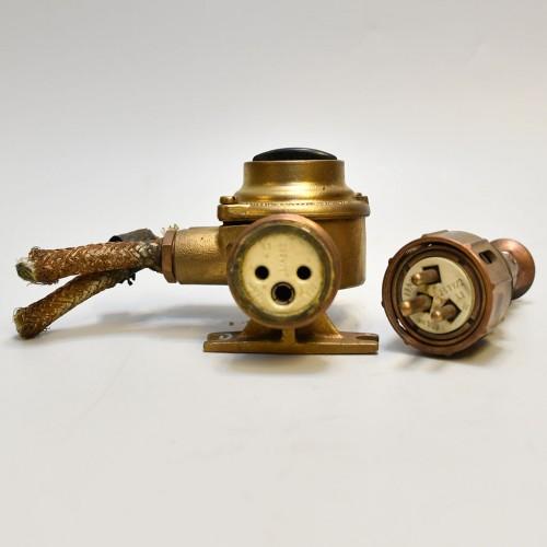 Electric Socket Brass 1 set
