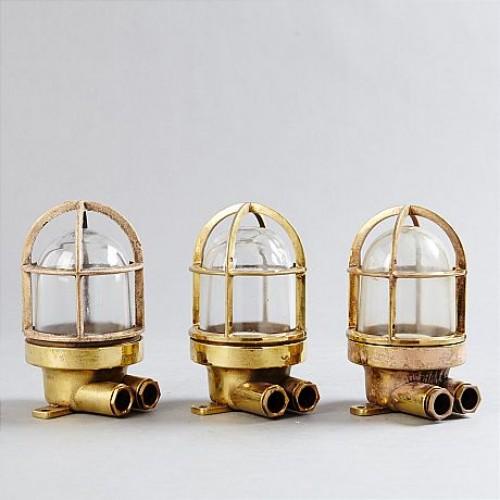 50-60 tals, 3 st, antika lampor online - wiska marin belysning