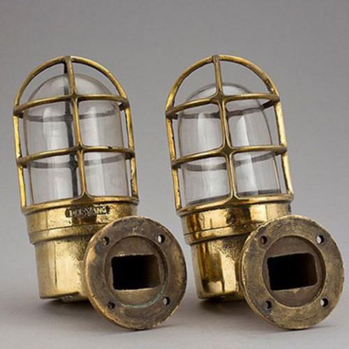 Skeppslampor i mässing, 1 par - marint tema