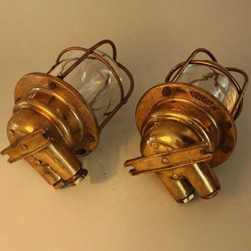 Vägglampa trappa, 1 par, 50 60 tals  - skeppa marin