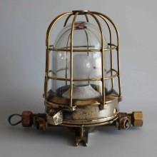 Utebelysning på stolpe, marina lampa - golvlampa mässing