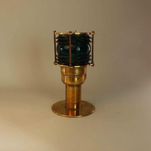 Post Mounted Port Side Navigation Light - Real Antique