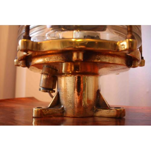 Mässing Nautiska Post Antik skeppslampa