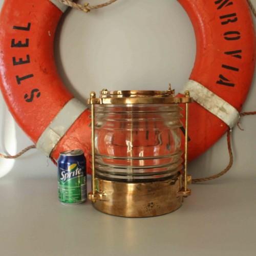 Lyktstolpe i mässing / marin bordslampa - belysningsstolpar