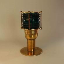 Solcellslampa utomhus i mässing, marin stil - Grön glas