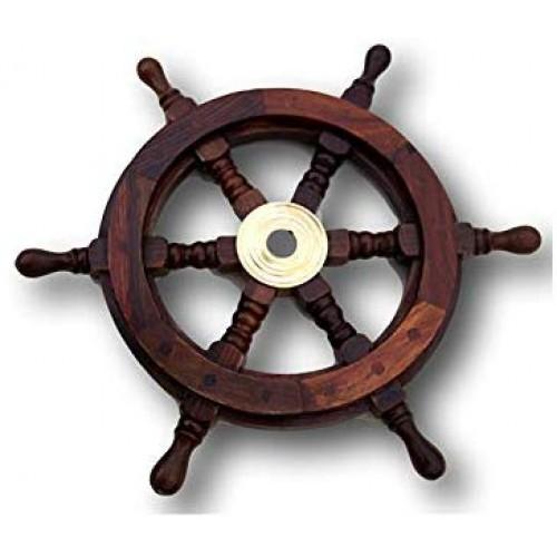 Wooden Ship Wheel 31 cm (Antique Finish)
