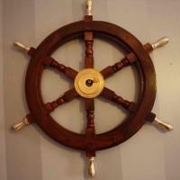 Skeppsratt inredning - mässing