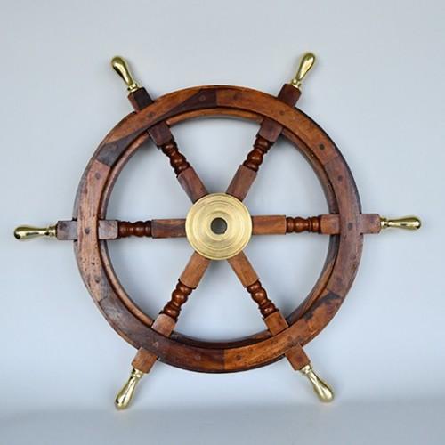 brass ship wheels - steering wheels