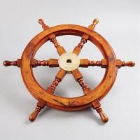Båtratt i trä och mässing - inredning marin stil