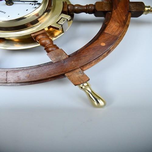 Skeppsklocka mässing i ventil stil - heminredning