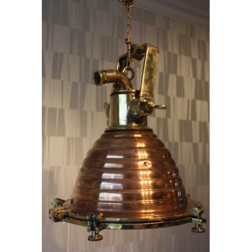 Copper and Brass Nautical Pendant Light - WISKA