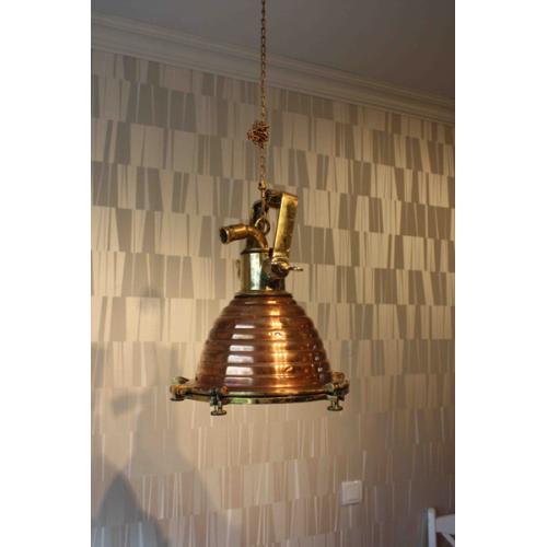 Marin taklampa i Koppar och mässing - Wiska