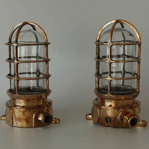 1 Pair Brass Nautical Dock  Pauluhn-Marine Light